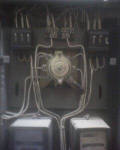 Электрощиток без передней крышки