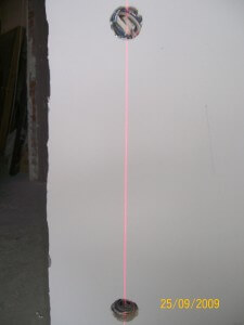 разметка подрозетников с помощью лазерного уровня