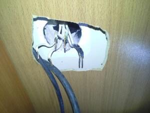 Обугленные провода