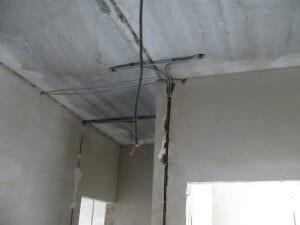 Укладка проводов внутри панели