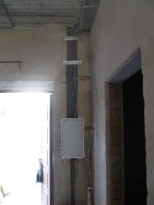 Монтаж внутреннего электрощита