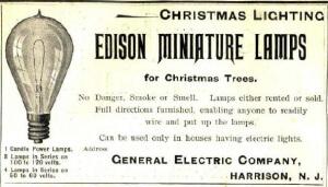 Реклама ламп Эдисона